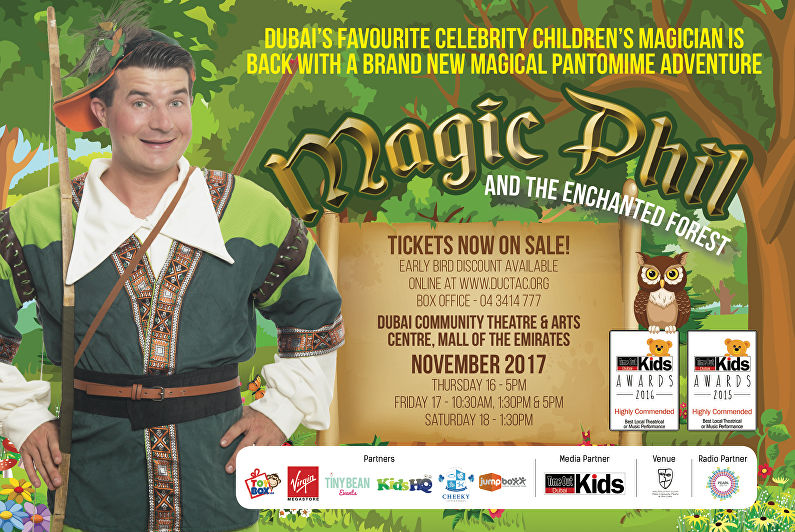 magic phil pantomime our top children's entertainer in dubai